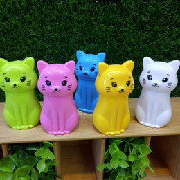$enCountryForm.capitalKeyWord Australia - Student used lovely animal products cats pencil sharpeners hot sale 5 colors mixed wholesale office supplies children gifts 48pcs packing