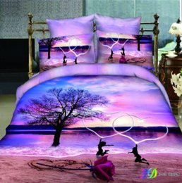 $enCountryForm.capitalKeyWord Australia - Good Quailty 100 Cotton 3D shell Sea Bedding Sets Oil Print Queen King Size BlueDuvet Cover flat sheet Pillowcases Twin Full Queen King Size