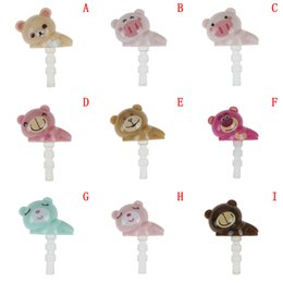 Bears headphones online shopping - 1pc Cartoon Animal Earphone Dust Plug Bear Pig Panda Headphone mm Aux Audio Port Jack Stopper for Notebook Mobile Phone