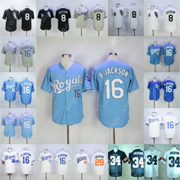 Wholesale Bo Jackson Jersey Kansas City Royals Chicago White Sox Baseball Jerseys All Stitched Home Away White Grey Light Blue Black