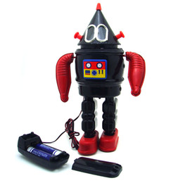Old Tin Toys Australia - [Funny] Adult Collection Retro Wind up toy Metal Tin electronic galaxy robot alien Clockwork toy figures model vintage toy gift