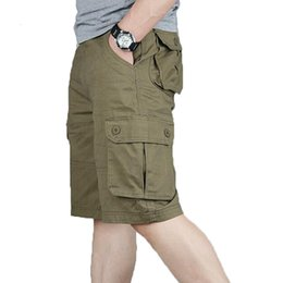 44 cargo shorts UK - Cargo Shorts Men Summer Fashion Army Military Tactical Homme Shorts Casual Multi-pocket Male Baggy Trousers Plus Size 42 44 46 MX190718