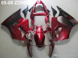 Injection Zzr Australia - Free customize bodywork fairing kit for Kawasaki ZZR600 05 06 07 08 wine red black injection mold fairings set ZZR 600 2005-2008 ZV19