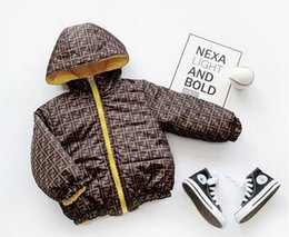 GREA BABY Winter Brand Fashion Letter Print Children's Thick Double-sided Wearable Letter Print Children's Thick Double-sided Clothing
