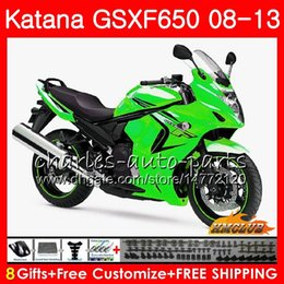 gsxf fairings UK - Kit For SUZUKI KATANA GSXF 650 GSX650F 08 09 10 11 12 13 14 18HC.37 light green GSXF-650 GSXF650 2008 2009 2010 2011 2012 2013 2014 Fairing