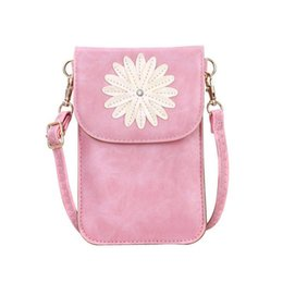 girls cell phone cases 2019 - Floral Pattern Shoulder Bag Cute Cell Phone Purse Touch Screen Window Crossbody Case Pouch Messenger Handbags Hand Bags
