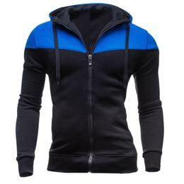 $enCountryForm.capitalKeyWord Australia - Jacket Mens Patchwork Winter Casual Long Sleeve Slim Zipper Pocket Fit Hoodies Blouse Top Overcoat Baseball chaqueta hombre