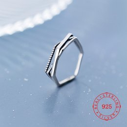 $enCountryForm.capitalKeyWord Australia - Size 5.5 ~ 7.5 Antique Real 925 Sterling Silver Rings Fashion Lines Jewelry gift Women Vintage Unique Punk Bohemian Free Shipping