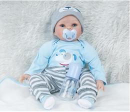 $enCountryForm.capitalKeyWord Australia - 55cm Silicone Lifelike Reborn Baby Doll Real Touch Newborn Babies with Clothes Kids Playmate Best Birthday Xmas Gift
