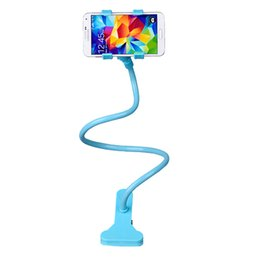 Wholesale Universal Rotating Flexible Long Arm Cell Phone Mounts Holders stand lazy bed desktop tablet car selfie mount bracket by DHL