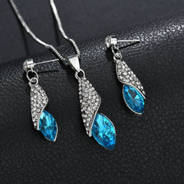 $enCountryForm.capitalKeyWord Canada - Gifts Sales Elegant Luxury Design New Fashion Gold Filled Colorful Austrian Crystal Drop Jewelry Sets For Women N1447
