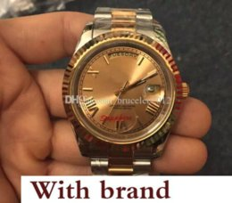 Silver Antiques Australia - Luxury Mechanical Watch President Sapphire Roman Black Face Gold Silver Stainless Steel Automatic Movement s Antique Wristwatches