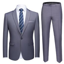 $enCountryForm.capitalKeyWord Australia - High Quality Nice Men&s Fashion Slim Suits 6xl Men&s Business Casual Groomsman 2pcs Wedding Suit Jacket Pants Trousers Sets