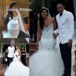 1d9af0428ecce Rhinestone mateRnity dResses online shopping - Plus Size Beaded Crystal  Tulle Mermaid Wedding Dresses Elegant Dubai