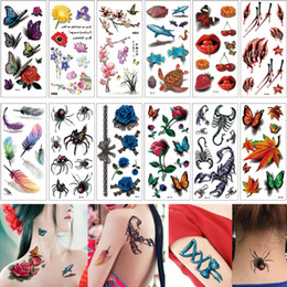 tattoo designs for legs NZ - 9*19cm 3D Tattoos Temporary Body Stickers Fake Scorpion Butterfly Designs for Women Men Kids Tattoo Waterproof Legs Arm Chest Back Decal Hot