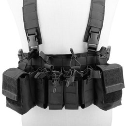 Magazine Vest Tactical Australia - Easy Chest Rig Vest Adjustable Tactical Hunting Combat Recon Vest with Magazine Pouch Hunting Paintball