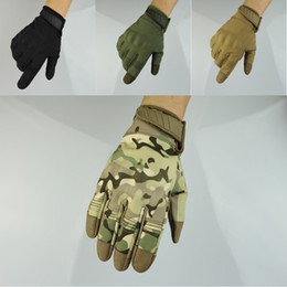 Hunt Gloves Australia - Winter Windproof Warmer Touch Screen Hard Knuckle Tactical Gloves Full Finger Gloves for Cycling Motorcycle Hunting M323Z