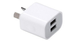 $enCountryForm.capitalKeyWord UK - V6 5V2.1A Phone Charging Head Dual USB AU Standard Adapter Dual U Intelligent Universal Fast Quick Charger Certificated CE FCC ROHS