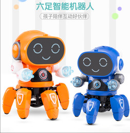 Battery Operated Ride Australia - Douyin popular Children's Toys New products occlaw Fish Music Lighting Intelligent Pet Robot Creative Educational Toys