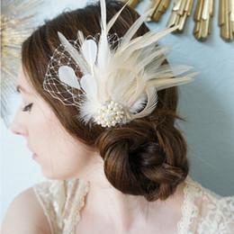 Hairpin Wedding Bridal Hair Clips Australia - NWE Fashion 1PCS Women Feather Rhinestone Pearl Hairpin Hair Clip Party Bridal Romantic Wedding love GIRLS Gift Accessories