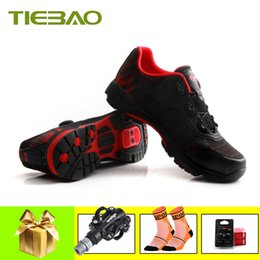 Cycle Pedals Australia - TIEBAO 2019 cycling shoes women men mountain bike sneakers self-locking bicycle riding shoes bicicleta triatlon SPD Pedals