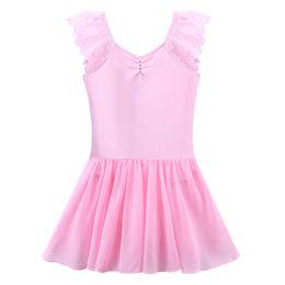 $enCountryForm.capitalKeyWord NZ - BAOHULU Kids Girls Lace Short Sleeve Ballet Dress Leotard Cotton Rhinestone Tutu Ballet Dance Wear Teens Dance Costume