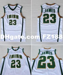 $enCountryForm.capitalKeyWord NZ - Lebron James #23 SVSM Irish High School White Basketball JerseyX S-6XL