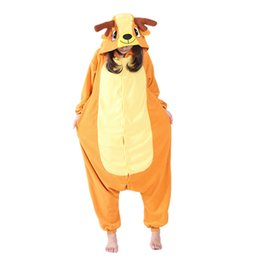 Polar Fleece Sika Deer Japan Cosplay Costume Cartoon Onesie Pajama Halloween  Carnival Masquerade Party Jumpsuit Clothing 6b52d06ba