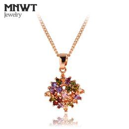 $enCountryForm.capitalKeyWord NZ - MNWT Rose Gold Color Dazzling Zircon Pendants And Luxury Necklace High Quality Cubic Zircon Necklace Jewelry Christmas Gift