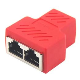 Lan Connectors Australia - 8PCE RJ45 For CAT5 CAT6 8P8C Ethernet Cable LAN Port 1 to 2 Socket Adapter Splitter 1x2 Connector Adapter Network Expander Splitter