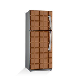 China Fridge Wrap  Dishwasher Sticker Chocolate Removable Self Adhesive Vinyl  Peel and Stick Decal Wallpaper cheap nature chocolate suppliers