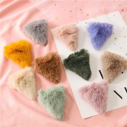 Hair Color Edges Australia - Autumn And Winter New Style Han Edition MAO Triangle Hairpin Dish Sends Bundle Hair Girl Candy Color Hairpin Edge Clip Hair Is Acted The Ro