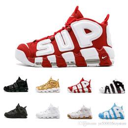 cheap for discount 36b47 b5327 2018 Air mehr 96 QS Olympic Varsity Maroon Herren-Basketballschuhe CHI  schwarz gold Airs 3M Scottie Pippen Uptempo Sports Sneakers 41-47