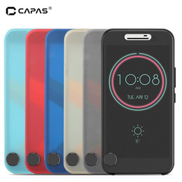 $enCountryForm.capitalKeyWord Australia - For HTC 10 Flip Case Cover Smart Sleep Wake Ice View Window PC Cover For HTC One M10 Lifestyle Case Touchable Protective Shield