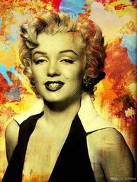 35 Figure Australia - Marilyn Monroe,A3-35 High Quality Handpainted &HD Print Portrait Art Oil Painting On Canvas For Wall Decor Multi Sizes Frame Options p172