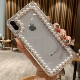 phone water skin Australia - Luxury Rhinestone Clear Phone Case For Iphone X XR XS Max 8 7 6 6s plus 6 6s plus S9 S10 TPU Cases In Back Cover Skin Shell Hull GSZ528