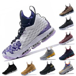 baae475e0b3 Waffle Four Horseme Ashes LBJ 15 15s mens Basketball Shoes EQUALITY Black  White 15s EP Sports trainers designer Sneakers Size 7-12