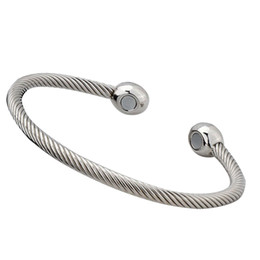 HealtH bangles online shopping - Women Men Daily Pain Therapy Gift Magnetic Jewelry Open Cuff Brass Simple Bracelet Exquisite Health Care Lightweight Bangle