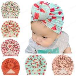 indian cotton wholesalers UK - Infant Toddler Unisex Ball Knot Indian cap Kids Turban Spring Autumn Caps Baby Donut Hat Flower Cotton Hairband