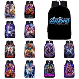 $enCountryForm.capitalKeyWord Australia - Marvel Avengers Backpacks 30 Designs Superhero 3D Printed Large Capacity Kids Backpacks Student Schoolbags designer backpack SS325