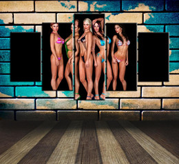 $enCountryForm.capitalKeyWord Australia - Sexy Model,5 Pieces Home Decor HD Printed Modern Art Painting on Canvas (Unframed Framed)