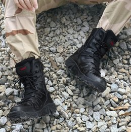 tactical chains Australia - Hot Sale-New high boot wear-resistant military boots tactical boots Martin men leather boots personality men's boot wholesale V40