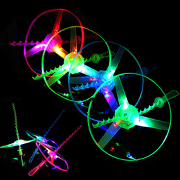 helicopter pull toy NZ - Amazing Flash Flying Toys LED Arrow Helicopter Toys Novelty Toy LED Flying Toys Three Light-emitting Pull Children's Christmas Gifts