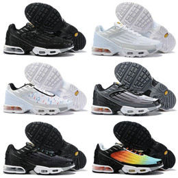 spider shoes running 2020 - 2019 Plus III 3 Mens desig TUNED Airs Running Shoes Classic Outdoor Black White Sport Shock Sneakers Men requin Blue Spi