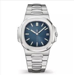 Venta al por mayor de 2019 Luxury Top Nautilus Sports Watch Men Relojes automáticos Monement Rose Gold Case Brown Dial inoxidable para hombre Relojes mecánicos