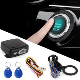 $enCountryForm.capitalKeyWord Australia - Smart RFID Car Alarm System Push Engine Start Stop Button Lock Ignition Immobilizer with Remote Keyless Go Entry System 12V
