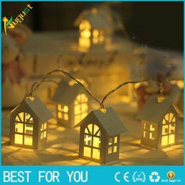 String Lights Decor Australia - LED Shine House for Christmas Tree Decorations 2M 3M 6M Fairy Light String Wedding Cabins Christmas Pendant Drop Ornaments Decor