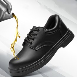 Oil Resistant Rubber Australia - Safety shoes skid proof anti break waterproof oil resistant kitchen workers shoes protective Chef