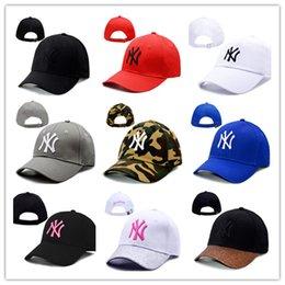 Ingrosso Commercio all'ingrosso di alta qualità NY Yankees dissolvenza berretti da baseball cappello curvo visiera casquette cappelli 100% cotone gorras golf bone snapback cappello spedizione gratuita