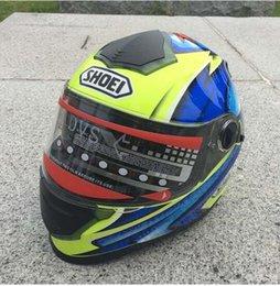 Carbon Fiber Half Helmets Australia - New motorcycle helmet with dual - lens cross - country racing bike thermal running helmet full helmet